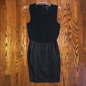 Forever 21 Pleather Skirted Body Con Dress